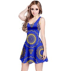 Abstract Mandala Seamless Pattern Reversible Sleeveless Dress