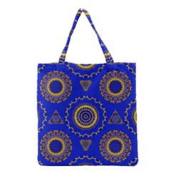 Abstract Mandala Seamless Pattern Grocery Tote Bag