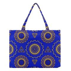 Abstract Mandala Seamless Pattern Medium Tote Bag