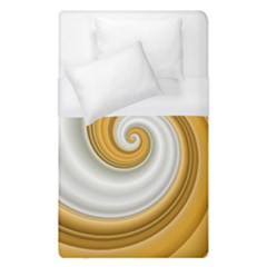 Golden Spiral Gold White Wave Duvet Cover (single Size)