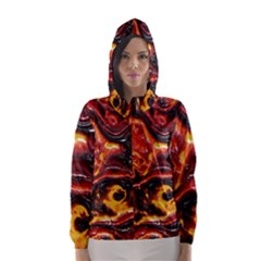 Lava Active Volcano Nature Hooded Wind Breaker (women)