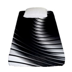Metallic Waves Fitted Sheet (single Size)