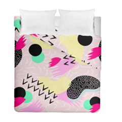 Pink Circle Red Pattern,sexy Duvet Cover Double Side (full/ Double Size)