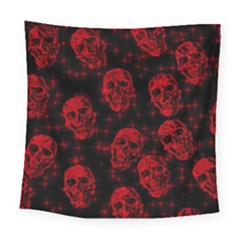 Sparkling Glitter Skulls Red Square Tapestry (large)