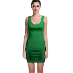 Green Beach Fractal Backdrop Background Sleeveless Bodycon Dress