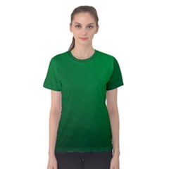 Green Beach Fractal Backdrop Background Women s Cotton Tee