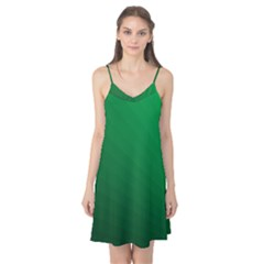 Green Beach Fractal Backdrop Background Camis Nightgown
