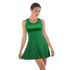 Green Beach Fractal Backdrop Background Cotton Racerback Dress