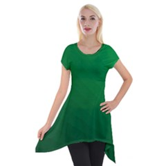 Green Beach Fractal Backdrop Background Short Sleeve Side Drop Tunic
