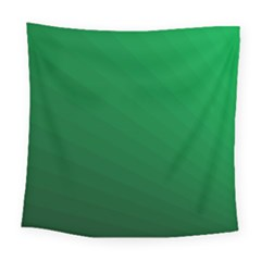 Green Beach Fractal Backdrop Background Square Tapestry (large)