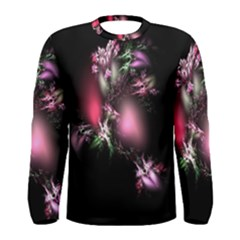 Colour Of Nature Fractal A Nice Fractal Coloured Garden Men s Long Sleeve Tee