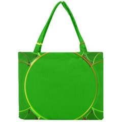 Green Circle Fractal Frame Mini Tote Bag