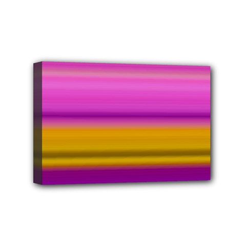 Stripes Colorful Background Colorful Pink Red Purple Green Yellow Striped Wallpaper Mini Canvas 6  X 4