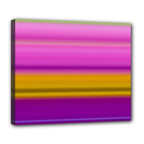 Stripes Colorful Background Colorful Pink Red Purple Green Yellow Striped Wallpaper Deluxe Canvas 24  x 20