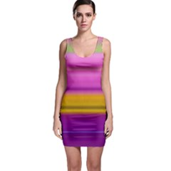 Stripes Colorful Background Colorful Pink Red Purple Green Yellow Striped Wallpaper Sleeveless Bodycon Dress