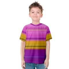 Stripes Colorful Background Colorful Pink Red Purple Green Yellow Striped Wallpaper Kids  Cotton Tee