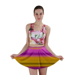 Stripes Colorful Background Colorful Pink Red Purple Green Yellow Striped Wallpaper Mini Skirt