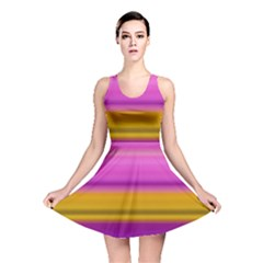 Stripes Colorful Background Colorful Pink Red Purple Green Yellow Striped Wallpaper Reversible Skater Dress