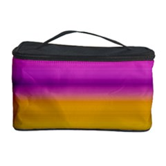 Stripes Colorful Background Colorful Pink Red Purple Green Yellow Striped Wallpaper Cosmetic Storage Case