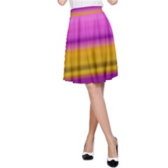 Stripes Colorful Background Colorful Pink Red Purple Green Yellow Striped Wallpaper A-Line Skirt
