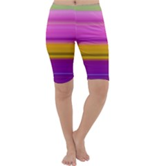 Stripes Colorful Background Colorful Pink Red Purple Green Yellow Striped Wallpaper Cropped Leggings
