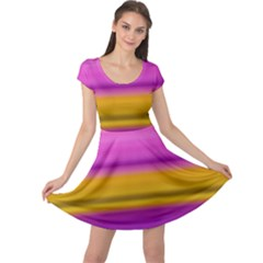 Stripes Colorful Background Colorful Pink Red Purple Green Yellow Striped Wallpaper Cap Sleeve Dresses