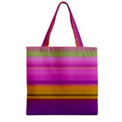 Stripes Colorful Background Colorful Pink Red Purple Green Yellow Striped Wallpaper Zipper Grocery Tote Bag
