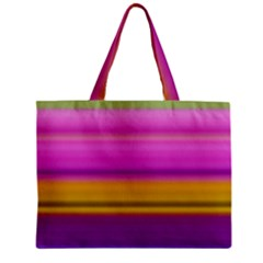 Stripes Colorful Background Colorful Pink Red Purple Green Yellow Striped Wallpaper Zipper Mini Tote Bag