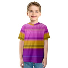 Stripes Colorful Background Colorful Pink Red Purple Green Yellow Striped Wallpaper Kids  Sport Mesh Tee