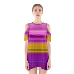 Stripes Colorful Background Colorful Pink Red Purple Green Yellow Striped Wallpaper Shoulder Cutout One Piece