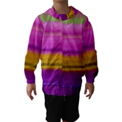 Stripes Colorful Background Colorful Pink Red Purple Green Yellow Striped Wallpaper Hooded Wind Breaker (kids)