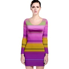 Stripes Colorful Background Colorful Pink Red Purple Green Yellow Striped Wallpaper Long Sleeve Velvet Bodycon Dress