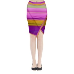 Stripes Colorful Background Colorful Pink Red Purple Green Yellow Striped Wallpaper Midi Wrap Pencil Skirt