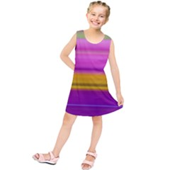 Stripes Colorful Background Colorful Pink Red Purple Green Yellow Striped Wallpaper Kids  Tunic Dress