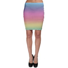 Watercolor Paper Rainbow Colors Bodycon Skirt