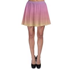 Watercolor Paper Rainbow Colors Skater Skirt