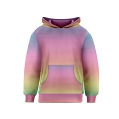 Watercolor Paper Rainbow Colors Kids  Pullover Hoodie