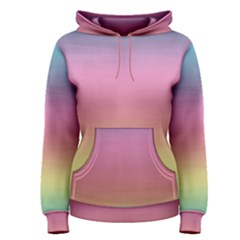 Watercolor Paper Rainbow Colors Women s Pullover Hoodie