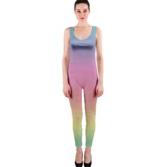 Watercolor Paper Rainbow Colors Onepiece Catsuit