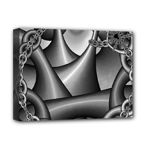 Grey Fractal Background With Chains Deluxe Canvas 16  X 12