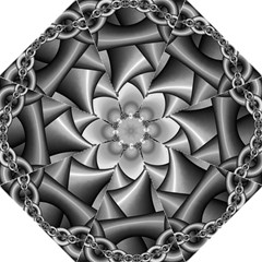 Grey Fractal Background With Chains Golf Umbrellas