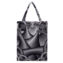 Grey Fractal Background With Chains Classic Tote Bag