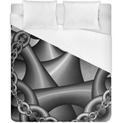 Grey Fractal Background With Chains Duvet Cover (california King Size)