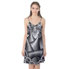 Grey Fractal Background With Chains Camis Nightgown