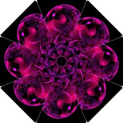Fractal Using A Script And Coloured In Pink And A Touch Of Blue Hook Handle Umbrellas (Small)