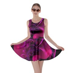 Fractal Using A Script And Coloured In Pink And A Touch Of Blue Skater Dress