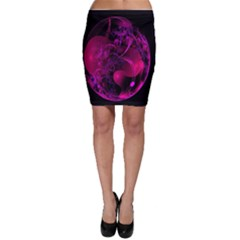 Fractal Using A Script And Coloured In Pink And A Touch Of Blue Bodycon Skirt