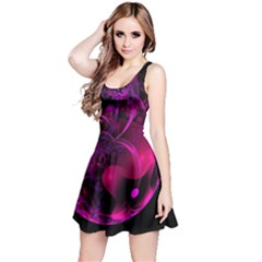 Fractal Using A Script And Coloured In Pink And A Touch Of Blue Reversible Sleeveless Dress
