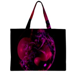 Fractal Using A Script And Coloured In Pink And A Touch Of Blue Mini Tote Bag