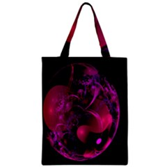 Fractal Using A Script And Coloured In Pink And A Touch Of Blue Classic Tote Bag
